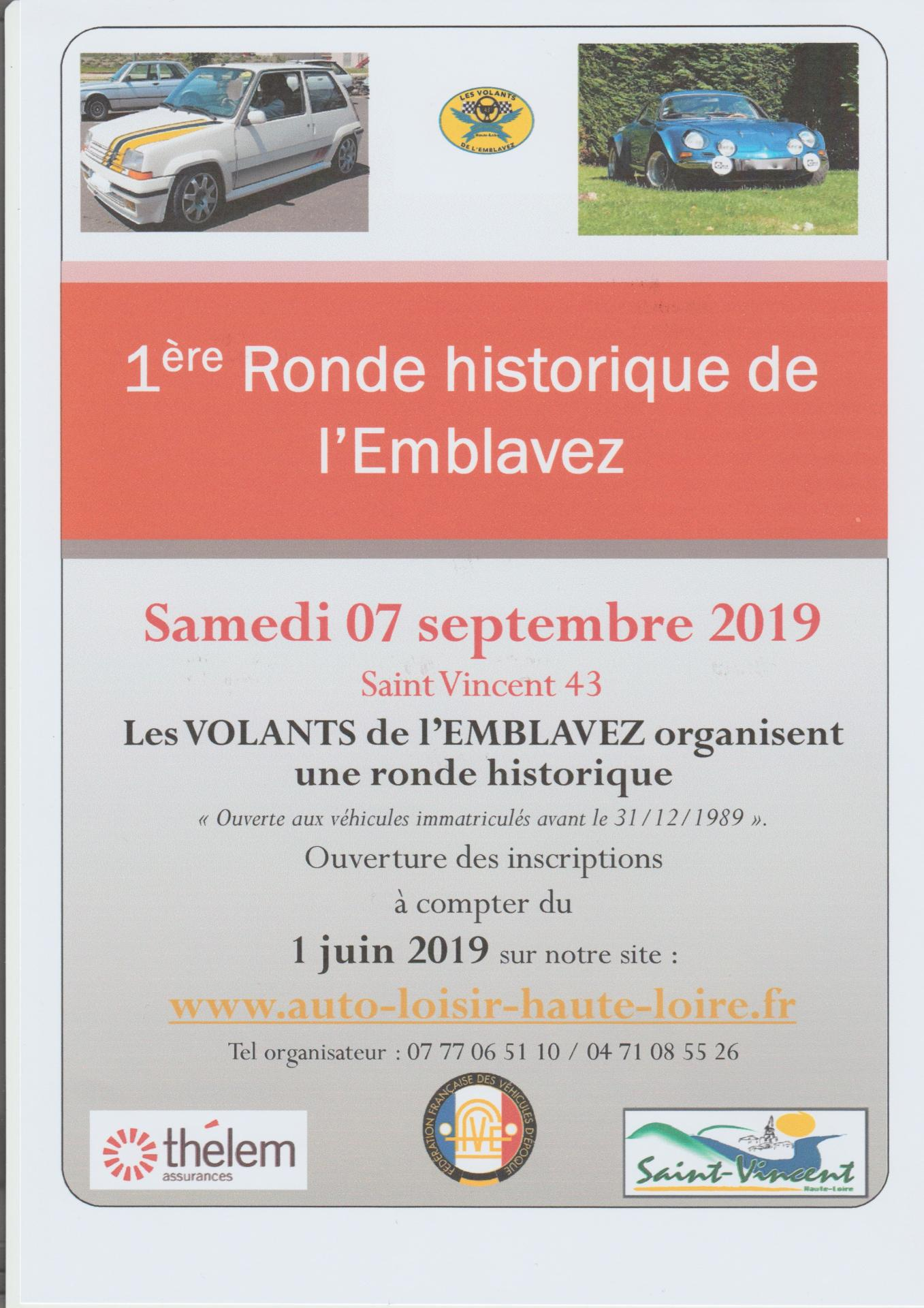 1ére ronde historique de l'emblavez samedi 07 septembre 2019